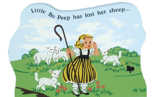 Little Bo Peep, nursery rhymes, sheep