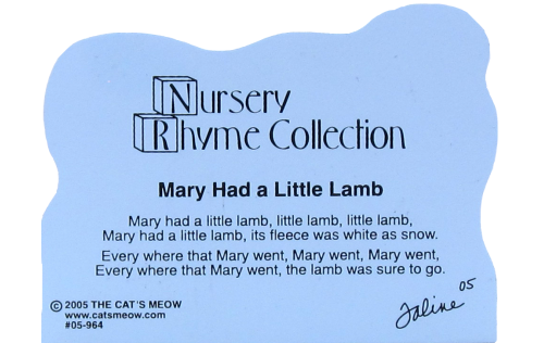 Mary Had A Little Lamb, nursery rhymes, lambs,