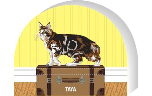 Maine Coon - Brown Tabby cat by The Cat's Meow Village, PURRsonalize Me! Item