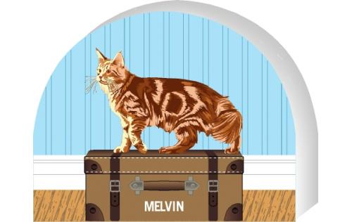 Maine Coon - Red Tabby cat by The Cat's Meow Village, PURRsonalize Me! Item