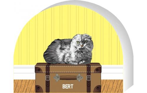 PURRsonalize Me! Scottish Fold cat by the Cat's Meow Village