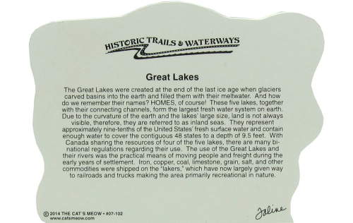 Great Lakes Map including Great Lakes Lighthouses and prominent locations in New York, Ohio, Indiana, Illinois, Wisconsin, Michigan