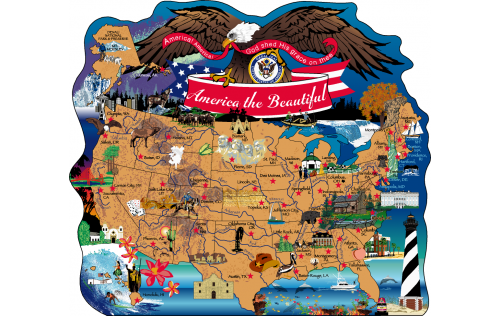 United States Of America Map, USA, America The Beautiful