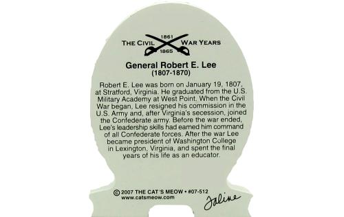 Back of the General Robert E. Lee, Civil War general