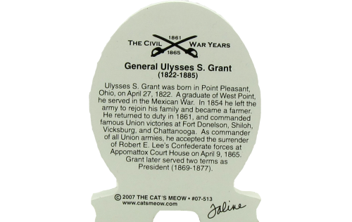 Back of Union Army General Ulysses S. Grant, Civil War