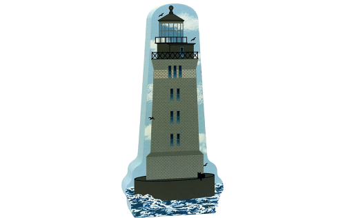 Cat's Meow Village handcrafted wooden replica of St. George Reef, California. Made in the USA.