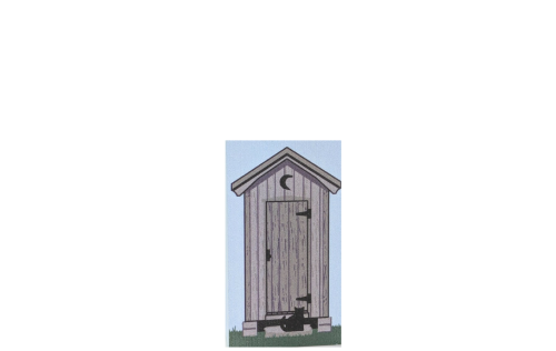 "Outhouse crafted in 3/4"" thick wood to add to your Cat's Meow Village collection. Handcrafted in the USA."