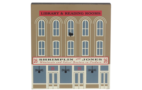"""Vintage Shrimplin & Jones from Series XI handcrafted from 3/4"""" thick wood by The Cat's Meow Village in the USA"""
