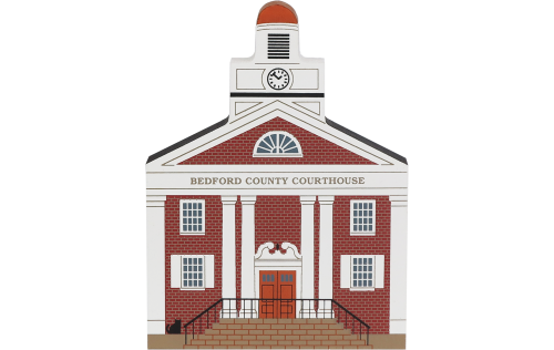 "Vintage Bedford County Courthouse from Series XII handcrafted from 3/4"" thick wood by The Cat's Meow Village in the USA"