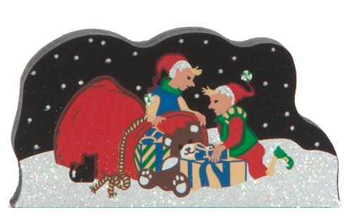 Packing Santa's Bag, Santa, elves, North Pole, winter, Christmas