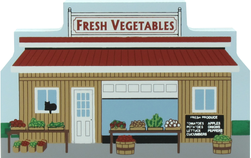 Typical Amish Vegetable Stand in Wayne & Holmes Counties, Ohio