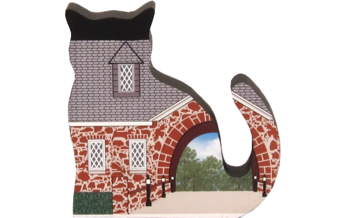 Example of a Cat's Meow Rescue Cat created from our color-matching scrap pile and given new life.