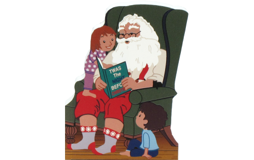 Santa reading Twas The Night Before Christmas