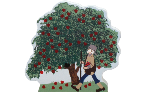 Cat's Meow Apple Tree with Johnny Appleseed