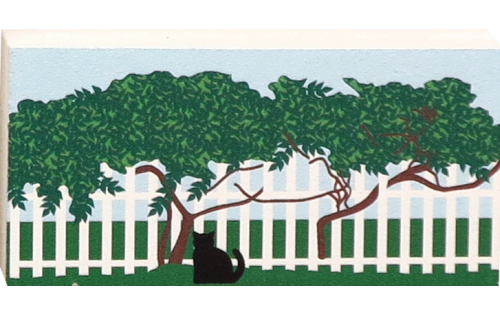 Cat's Meow Viney Fence accessory can be added to your Village houses to add purrsonality.