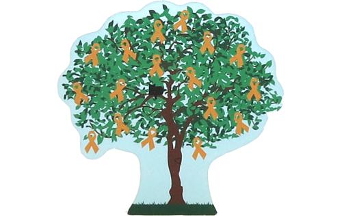 Cat's Meow Village 2015 Leukemia Awareness Charity Tree