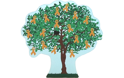 Cat's Meow Village Childhood Cancer Awareness Charity Tree