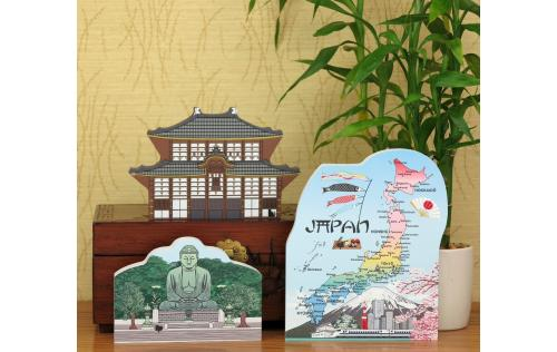 "Purchase our Japan landmark keepsakes as a set and save $4. Handcrafted of 3/4"" thick wood in the USA."