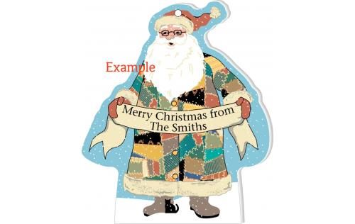 Personalize this santa ornament for your tree or give it as a gift this Christmas