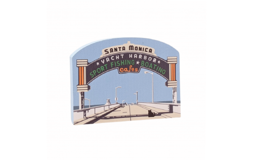 """Front & Back of Seligman, Arizona's famous Snow Cap Drive-in replicated in 3/4"""" thick wood to add to your home decor. Handcrafted in the USA by The Cat's Meow Village."""