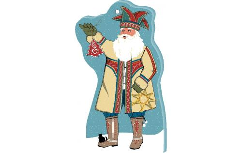 Add this Nordic Santa ornament to your Christmas tree this year. Handcrafted in USA by The Cat's Meow Village.