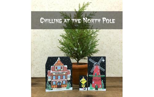 Build yourself a North Pole village for your holiday decor. We add new designs every year. By The Cat's Meow Village.