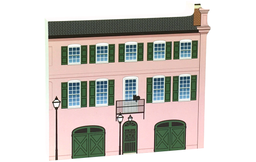 Charleston, South Carolina's Rainbow Row #10. Handcrafted by The Cat's Meow Village in the USA.