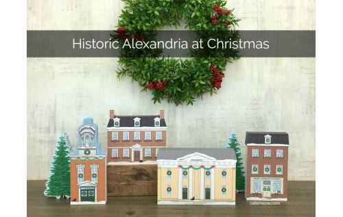 This miniature wooden village of Historic Alexandria, Virginia will add spirit to your holiday decor. Handcrafted in the USA by The Cat's Meow Village just for you.