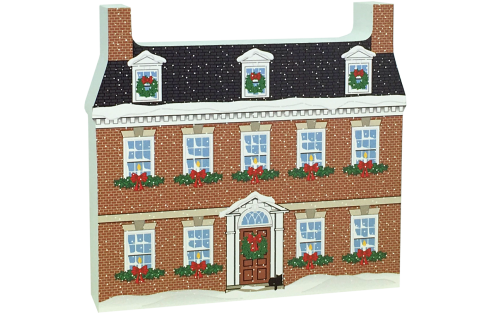 This Gadsby's replica would look nice on your mantel, bookshelf, windowsill, or any other nook that needs a little Christmas cheer. Handcrafted in the USA by The Cat's Meow Village.