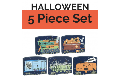 Get your paws on all 5 train cars of our Halloween train set and save yourself $4.50! Handcrafted in the USA by The Cat's Meow Village.