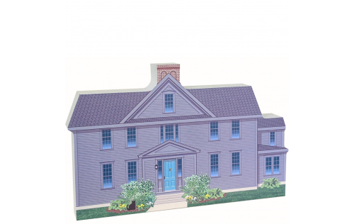 """We handcraft this Orchard House from 3/4"""" thick wood with colorful details on the front and more of the story on the back.Made in the USA by The Cat's Meow Village."""