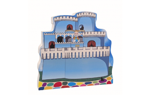 Mister Rogers, King Friday XIII's Castle handcrafted by Cat's Meow Village, Wooster, Ohio.
