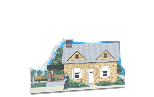 """If you have memories of Mister Rogers, then our 3/4"""" thick wooden replica of his television neighborhood home will sit perfectly on your desk, shelf, windowsill or mantle to remind you (and your children) of the shows and teaching of Mister Rogers."""