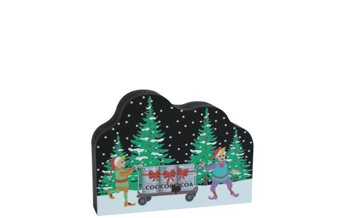 This adorable Cocoa Keg Party will look cute sitting your mantle, windowsill, desk, or any place else you need to see a little holiday cheer! Handcrafted in Wooster, Ohio by The Cat's Meow Village, just a sleigh ride from the North Pole.