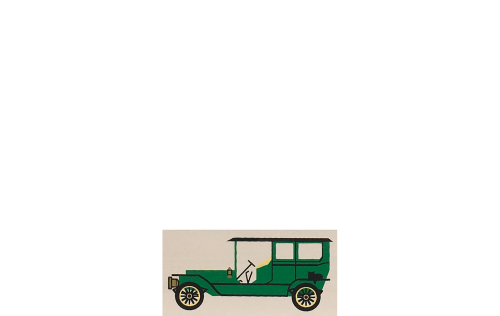 "Vintave 1909 Franklin Limousine from Accessories handcrafted from 1/2"" thick wood by The Cat's Meow Village in the USA"