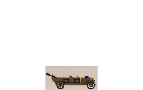 """Vintage 1913 Peerless Touring Car from Accessories handcrafted from 1/2"""" thick wood by The Cat's Meow Village in the USA"""