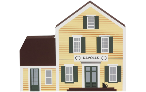 "Vintage Davolls General Store from General Store Series handcrafted from 3/4"" thick wood by The Cat's Meow Village in the USA"