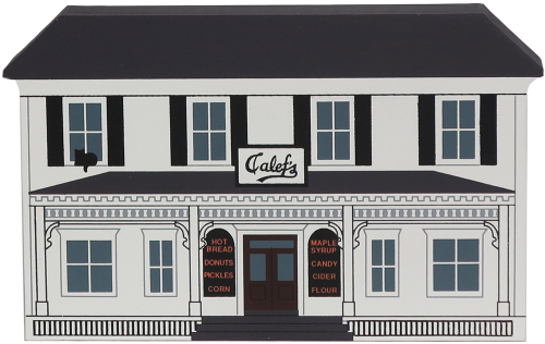 """Vintage Calef's Country Store from General Store Series handcrafted from 3/4"""" thick wood by The Cat's Meow Village in the USA"""