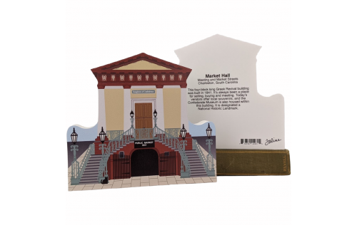 "Front & Back of Market Hall and Confederate Museum in Charleston, South Carolina. Handcrafted in 3/4"" thick wood by The Cat's Meow Village in the USA."