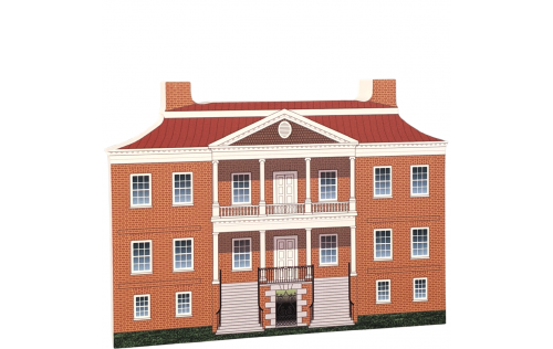 "Beautifully detailed replica of Drayton Hall, Charleston, South Carolina. Handcrafted in the USA 3/4"" thick wood by Cat's Meow Village."