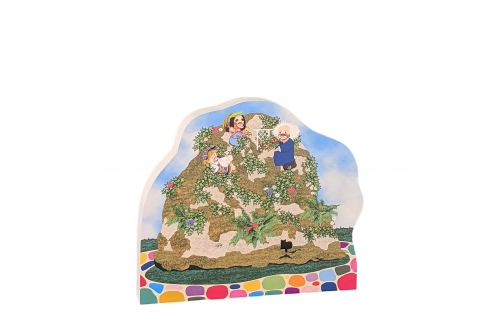 Mister Rogers, Platypus Family's Mound of Dirt Home. Handcrafted by The Cat's Meow Village in the USA.