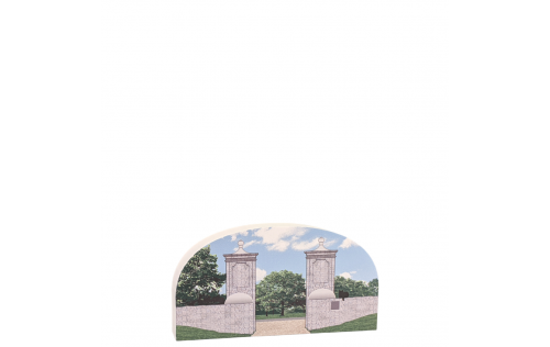 St. Augustine, Old City Gates, Florida.  Handcrafted by Cat's Meow Village in the USA