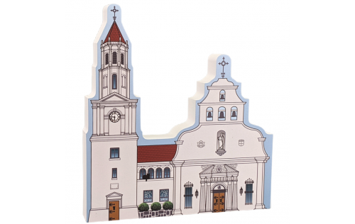 "St. Augustine, Cathedral Basilica, Florida. Handcrafted in the USA 3/4"" thick wood by Cat's Meow Village."
