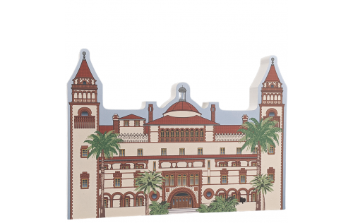 """Flager College, Ponce de Leon Hotel, St. Augustine, Florida. Handcrafted in the USA 3/4"""" thick wood by Cat's Meow Village."""