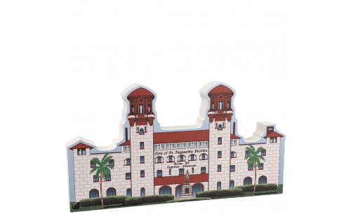 """St. Augustine, Lightner Museum, Alcazar Hotel, Florida. Handcrafted in the USA 3/4"""" thick wood by Cat's Meow Village."""