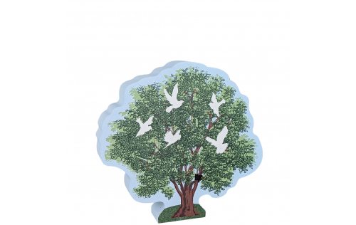 """Tree of Hope and Peace, handcrafted in 3/4"""" thick wood by Cat's Meow Village in the USA."""