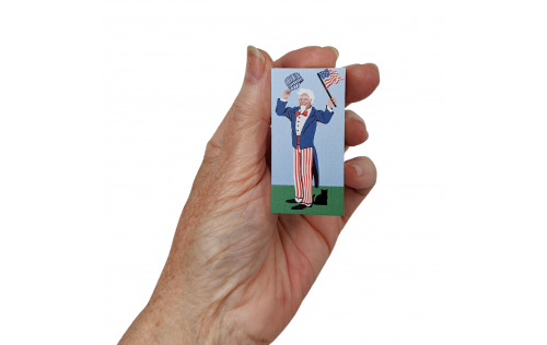Add Uncle Sam the conductor to your Pride of America train set.