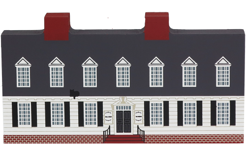 """Vintage Raleigh Tavern from Williamsburg Series handcrafted from 3/4"""" thick wood by The Cat's Meow Village in the USA"""