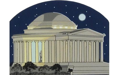 Jefferson Memorial Night Scene, Natl Mall & Memorial Parks, Washington DC,  Declaration of Independence