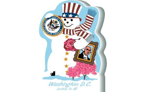Washington D.C. Snowman handcrafted and made in the USA.